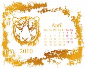 April month Calendar 2010