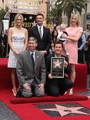 LOS ANGELES - MAY 23:  Carrie Underwood, Ryan Seacrest & Simon Fuller arrives to the Walk of Fame Ce