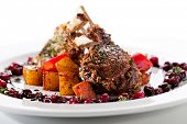Grilled Rack of Lamb with Berries Sauce
