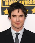 LOS ANGELES - JAN 16:  Ian Somerhalder arrives to the Critics' Choice Movie Awards 2014  on January
