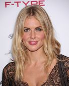 LOS ANGELES - NOV 19:  Donna Air arrives to the Jaguar F-TYPE Global Reveal Event  on November 19, 2013 in Playa Vista, CA