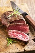 stock photo of deer meat  - steak - JPG