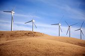 Wind Turbines in Central California produce electricity with the power of the wind. Wind Power is a