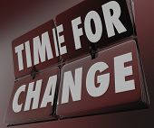 Time for Change Clock Retro Flipping Tiles Adapt Innovate