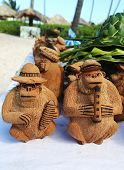 Local Souvenirs made from coconut in Punta Cana, Dominican Republic