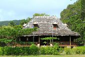 foto of creole  - Traditional creole house at La digue - JPG