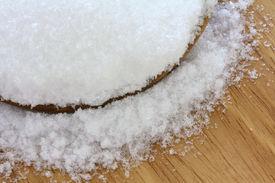 stock photo of laxatives  - Closeup photo of fine Magnesium sulfate  - JPG