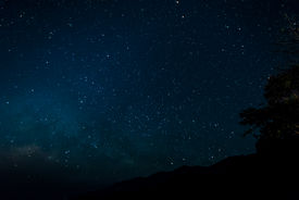 stock photo of big-bang  - Starfield in night sky with milkyway high iso - JPG