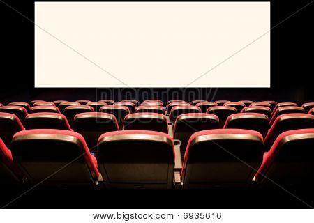 Постер, плакат: Пустых красный мест в кино, холст на подрамнике