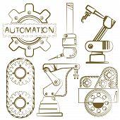 robotic set, mechanical tools