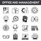 office and management icons