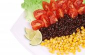Appetizing beans salad. Close up.