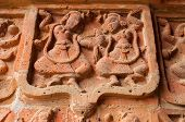foto of radha  - Figurines made of terracotta at Madanmohan Temple Bishnupur West Bengal India  - JPG