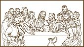 last supper of Jesus Christ the savior and his disciples
