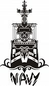 NAVY Military Design - Vector illustration.