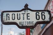 Sign Of Historic Route 66 in U.S.