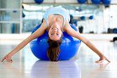 Gym Woman Bending Backwards