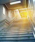 Stairs at a Subway Station