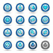 Shiny Blue Icons Set 2 - Web