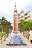 Hong Kong Clock Tower In Hong Kong, China. The Landmark is 44 Meter Tower