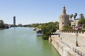 The Gold Tower And Guadalquivir River