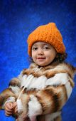 Toddler Winter Portrait poster