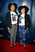 NEW YORK-JUL 30: Singers Ashley Renee Watkins and Olanna Goudeau of Acte II attend the 'America's Got Talent' post show red carpet at Radio City Music Hall on July 30, 2014 in New York City.
