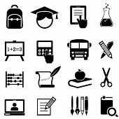 School, Learning And Education Icons