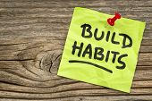 stock photo of  habits  - build habits reminder  - JPG