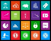 Finance metro icons set