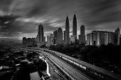 stock photo of klcc  - Kuala Lumpur is situated midway along the west coast of Peninsular Malaysia - JPG