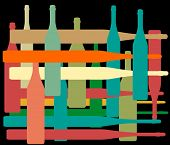 Background With Bottles Color