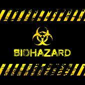 Grunge biohazard illustration