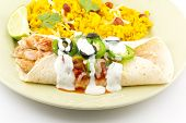 pic of enchiladas  - Heavenly enchilada with all the fixings begging to be eaten