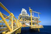 Oil and gas platform in offshore industry