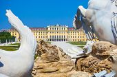 View On Gloriette And Neptune Fountain In Schonbrunn Palace