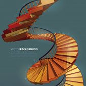 Vector Spiral Staircase Stairway