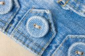 Jeans Button On Jeans Fabric Tag Slope View