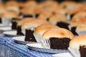 Brownies With Bread Custard Filling