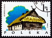 Postage Stamp Poland 1974 Cottage, Kurpie