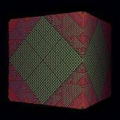 green rhombs surface cube