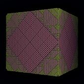pink rhombs surface cube