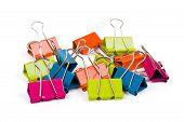 Heap Of Color Binder Clips