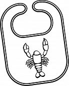 pic of exoskeleton  - lobster bib - JPG