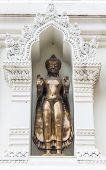 Buddha Statue In An Ancient Pagoda, Lamphun Province, Thailand
