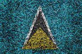 Saint Lucia Flag Color Grass Texture Background