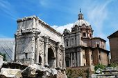 Ruins Of The Old And Beautiful City Rome