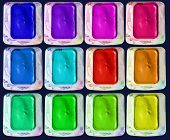 Isolated Colors Palette Of Watercolor Paint-box