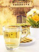 Drink Hot Tea With Cracker