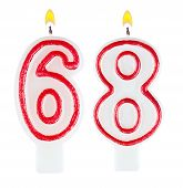 Birthday Candles Number Sixty Eight